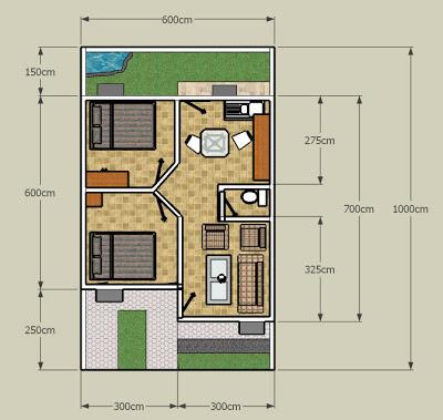 desain rumah denah rumah kecil rumah mungil rumah minimalis denah